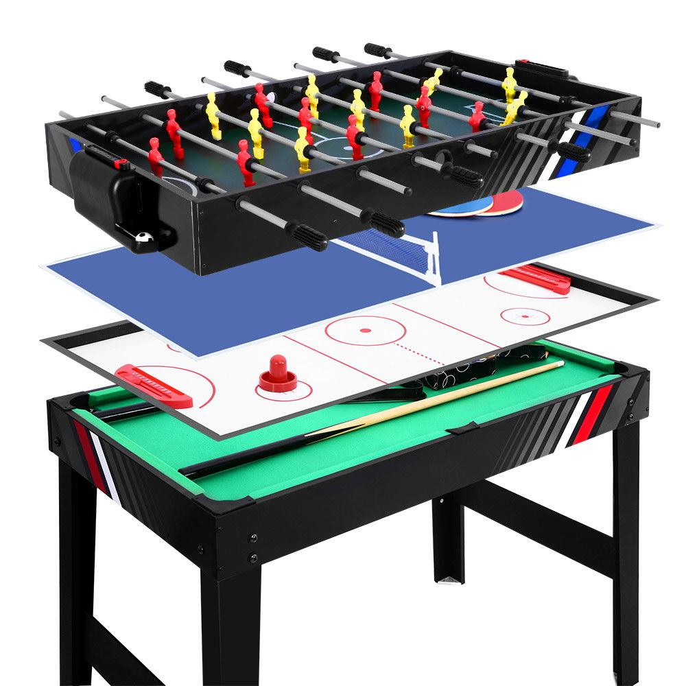 4FT 4-In-1 Soccer Table Tennis Ice Hockey Foosball - Kids Decor Factory