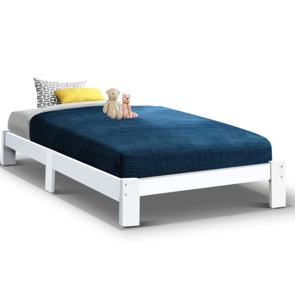 Artiss Bed Frame King Single Size Wooden Mattress Base Timber Platform JADE - Kids Decor Factory