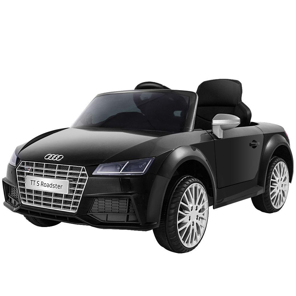 Audi Licensed Kids Ride On Cars Electric Car Children Toy Cars Battery Black - Kids Decor Factory