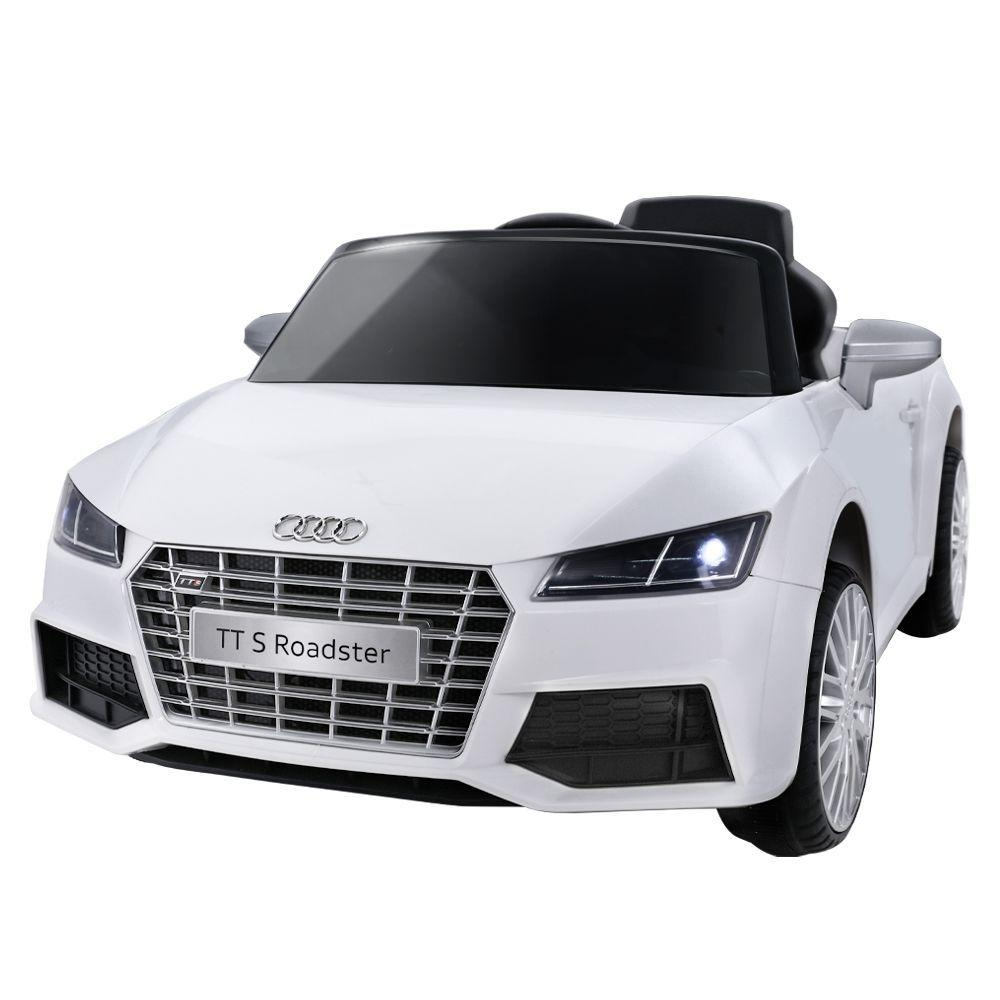 Audi Licensed Kids Ride On Cars Electric Car Children Toy Cars Battery White - Kids Decor Factory