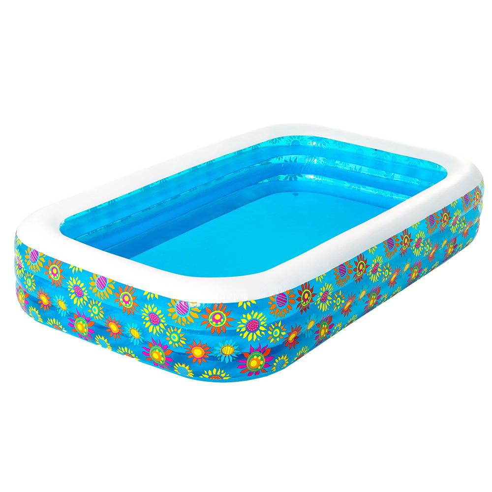 Bestway Inflatable Kids Play Pool Swimming Pool Rectangular Family Pools - Kids Decor Factory