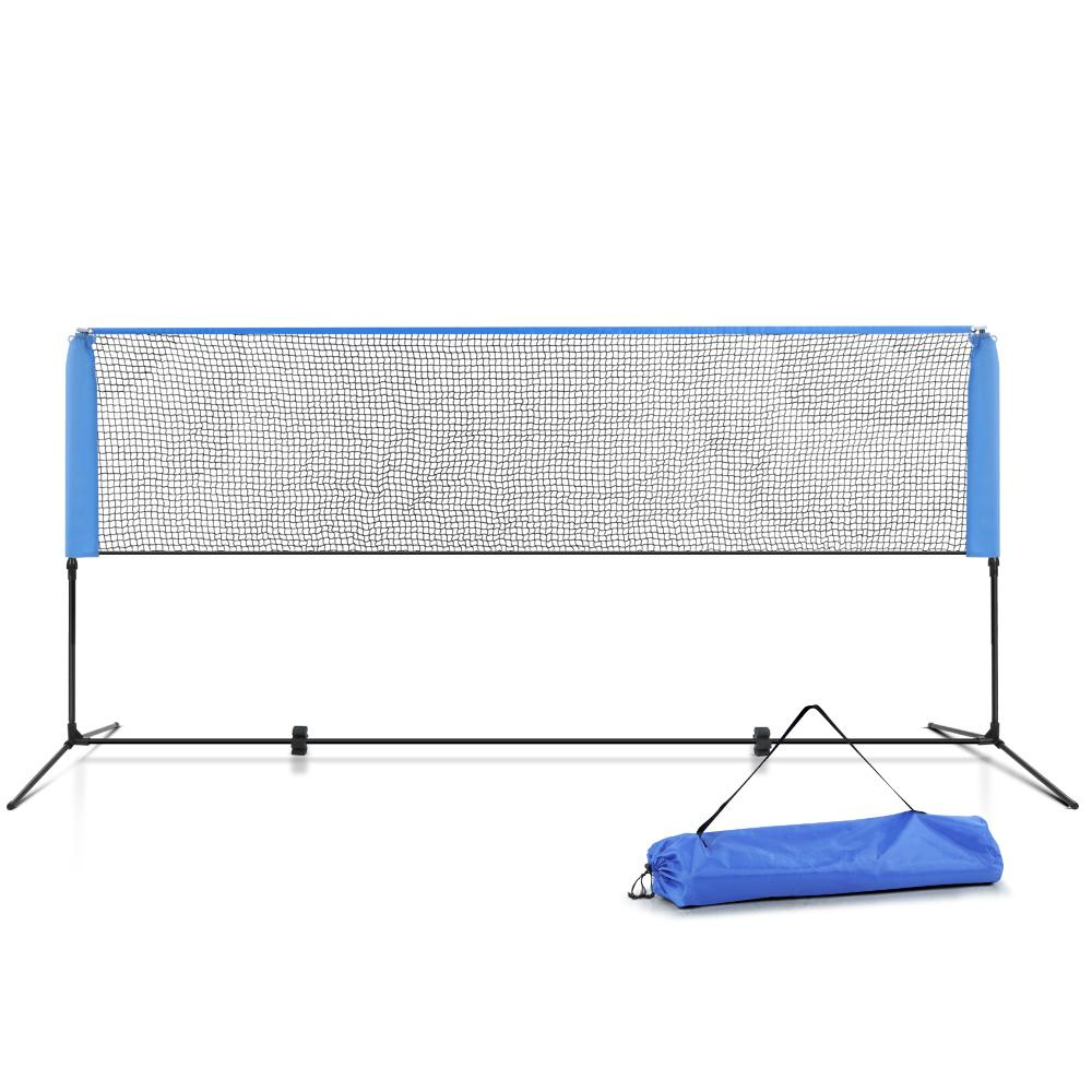 Everfit Portable Sports Net Stand Badminton Volleyball Tennis Soccer 3m 3ft Blue - Kids Decor Factory