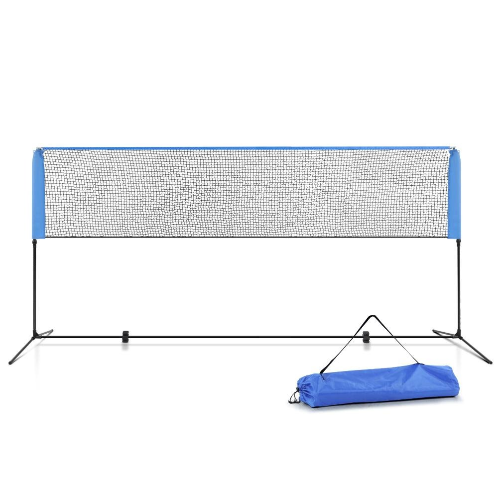 Everfit Portable Sports Net Stand Badminton Volleyball Tennis Soccer 4m 4ft Blue - Kids Decor Factory