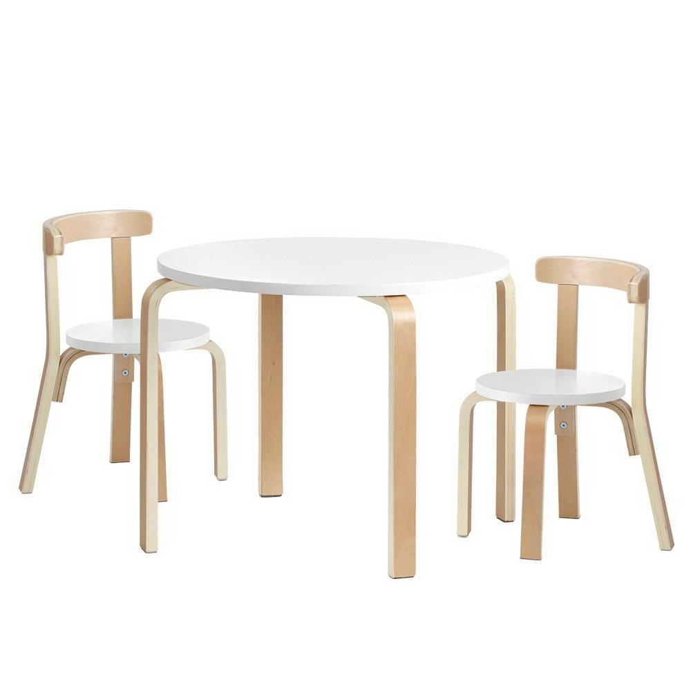 Keezi 3PCS Set Kids Activity Table and Chairs - Kids Decor Factory