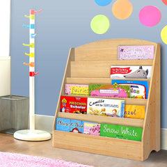Keezi 5 Tiers Kids Bookshelf Magazine Shelf Rack Organiser Bookcase Display - Kids Decor Factory