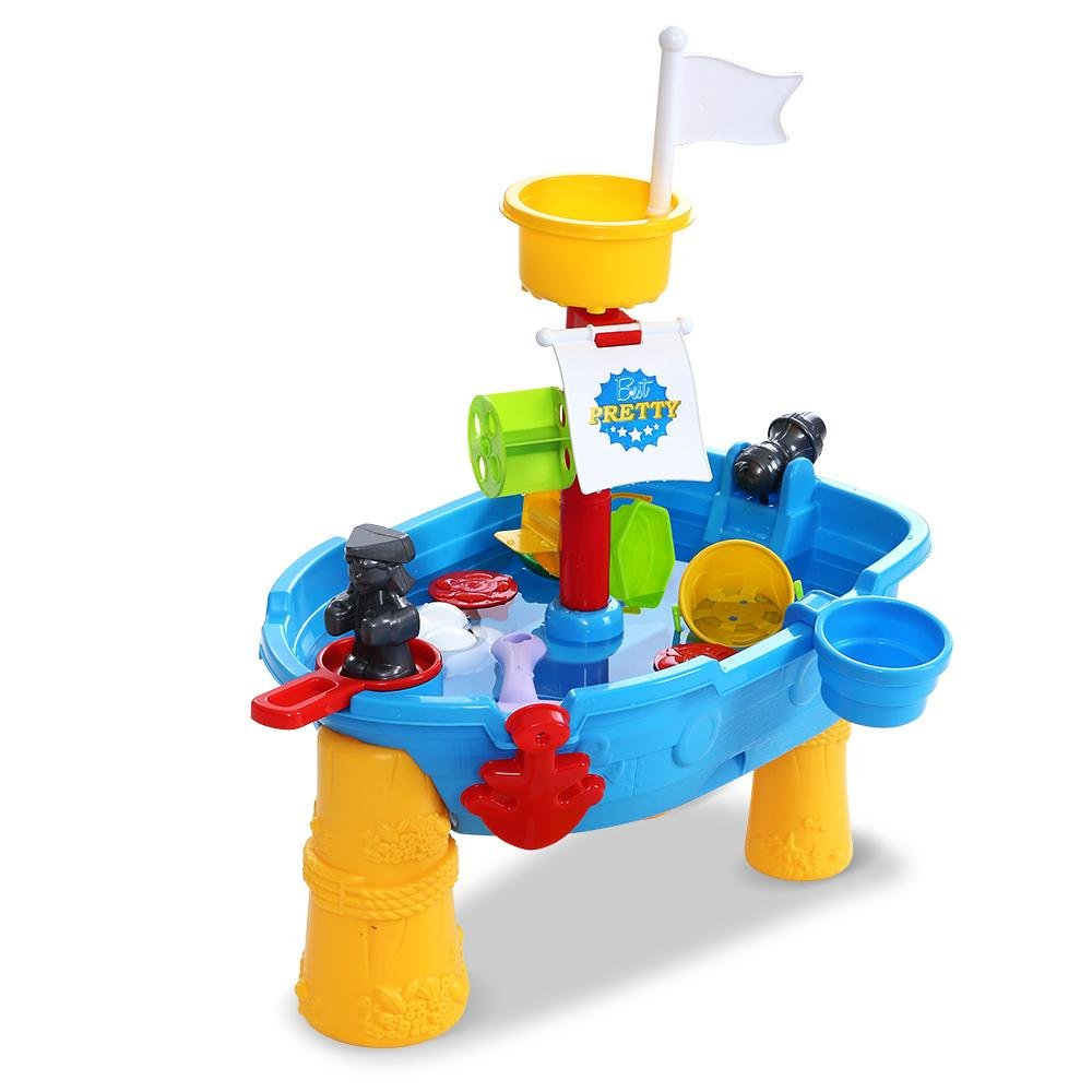 Keezi Kids Beach Sand and Water Pirate Ship Table - Kids Decor Factory