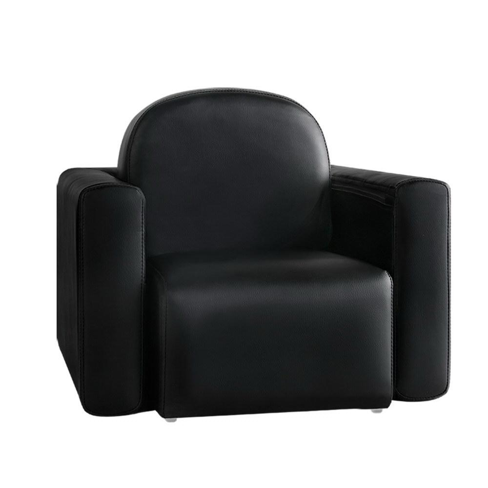 Keezi Kids Chair Recliner Leather Couch Black - Kids Decor Factory