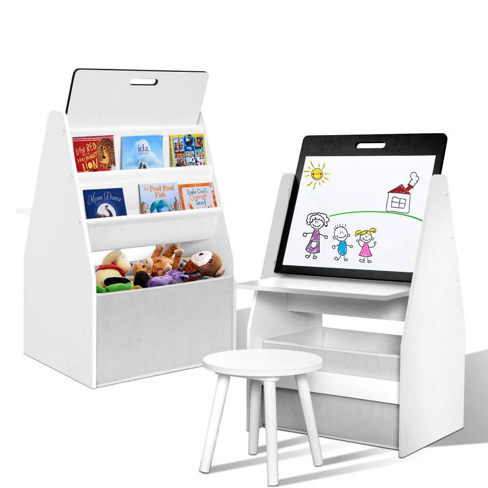 Keezi Kids Child Bookcases Easel Whiteboard Magazine Rack Desk - Kids Decor Factory