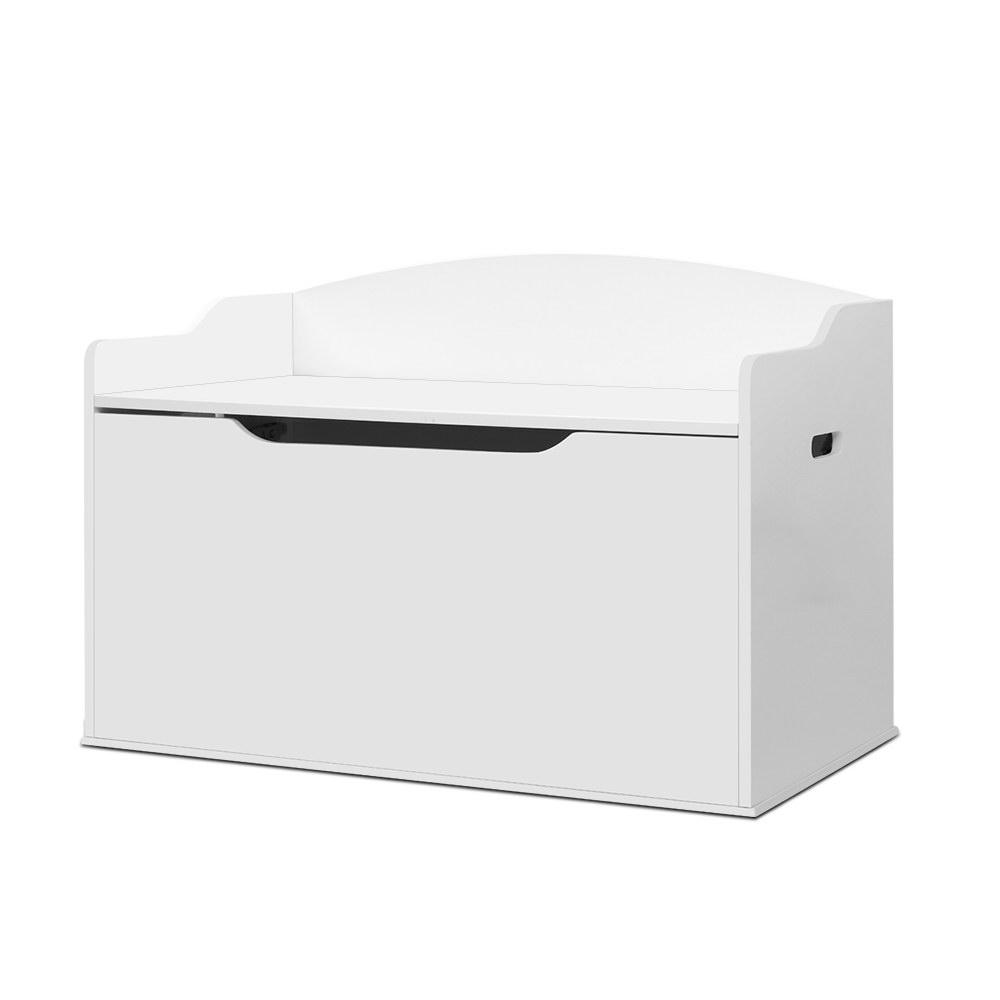 Keezi Kids Toy Box Storage Cabinet Chest White - Kids Decor Factory