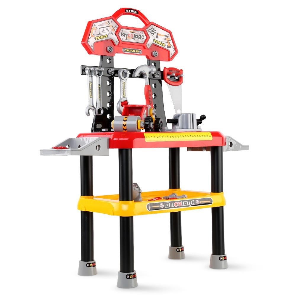 Keezi Kids Workbench Play Set - Red - Kids Decor Factory