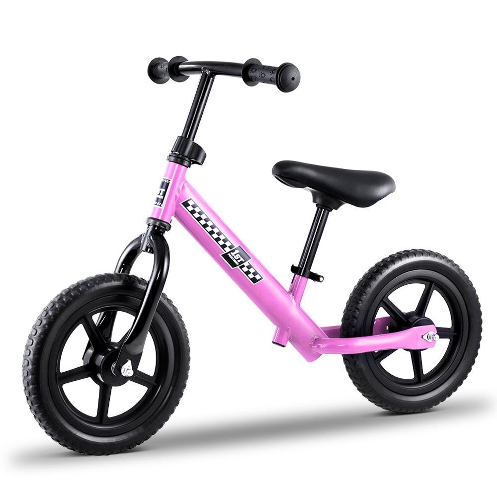 "Kids Balance Bike Ride On Toys 12"" Bikes Pink - Kids Decor Factory"