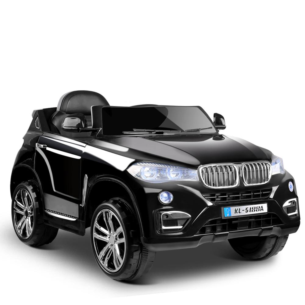 Kids Ride On Car BMW X5 Inspired Electric 12V Black - Kids Decor Factory