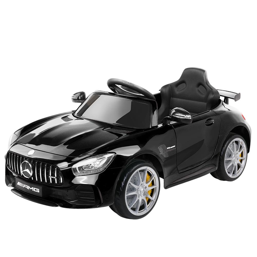 Kids Ride On Car MercedesBenz AMG GT R Electric Black - Kids Decor Factory