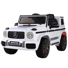 Mercedes-Benz Kids Ride On Car Electric AMG G63 Licensed Remote Cars 12V White - Kids Decor Factory