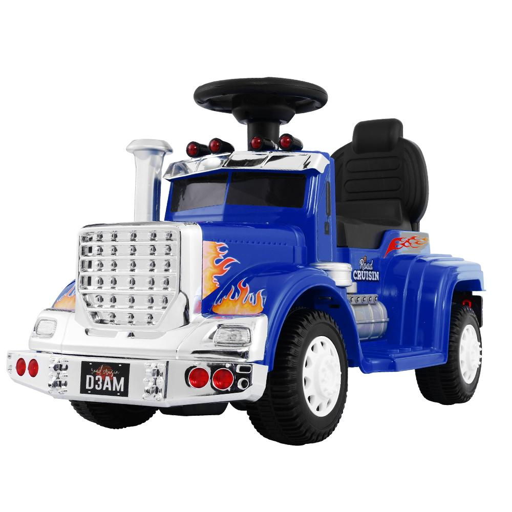 Ride On Cars Kids Electric Truck Blue - Kids Decor Factory