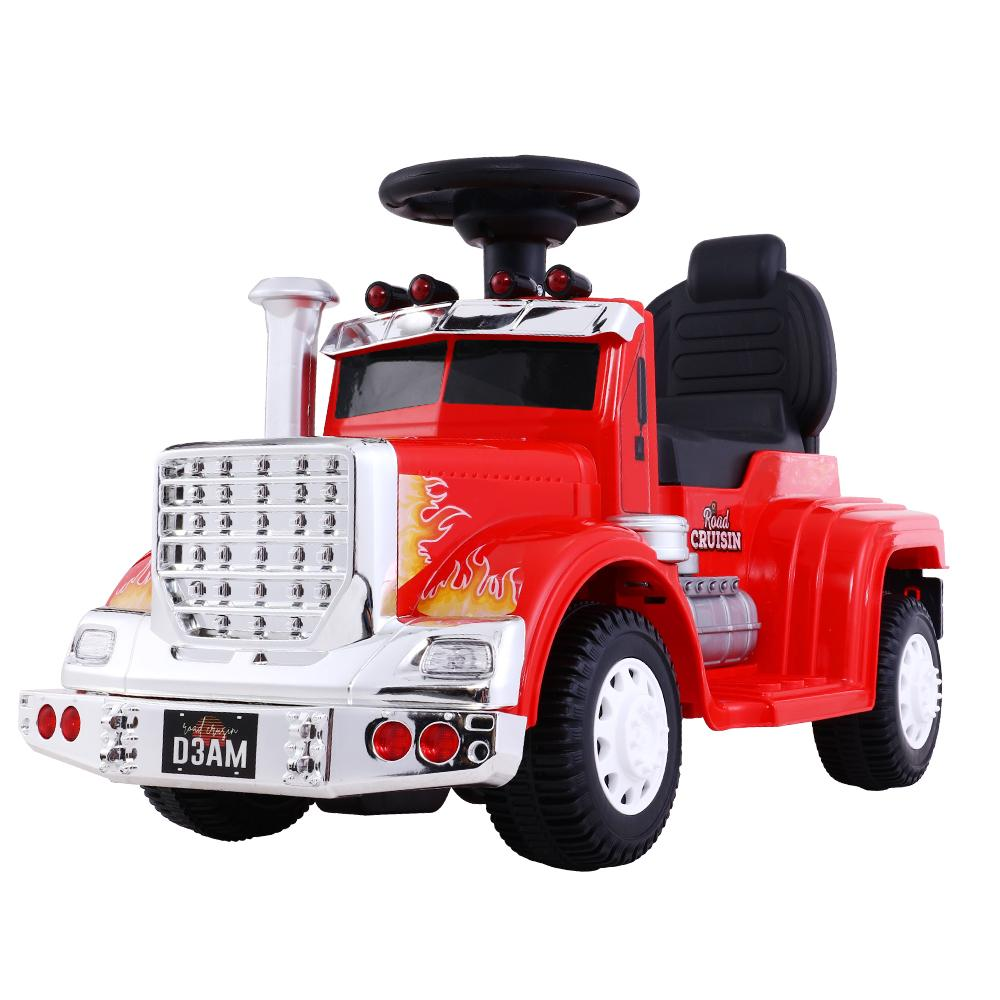 Ride On Cars Kids Electric Truck Red - Kids Decor Factory
