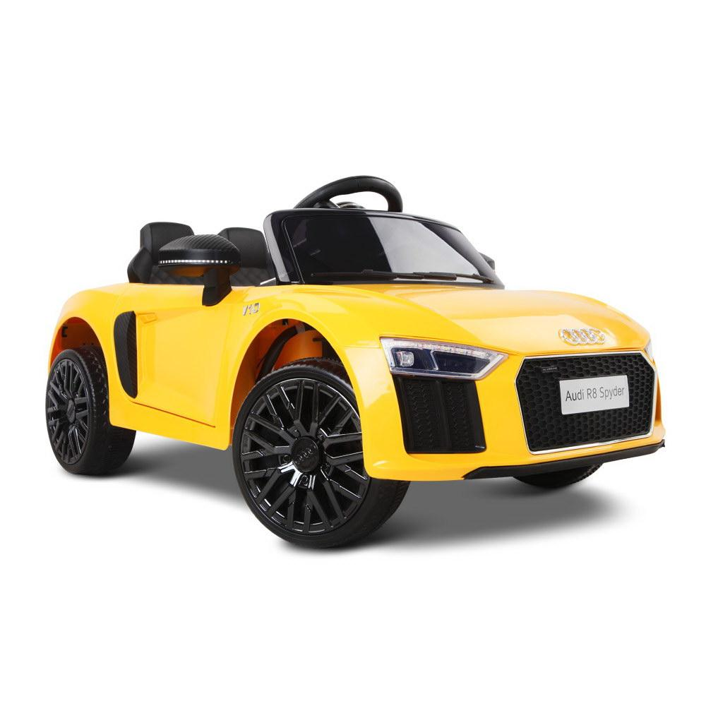 Rigo Kids Ride On Audi R8 - Yellow - Kids Decor Factory
