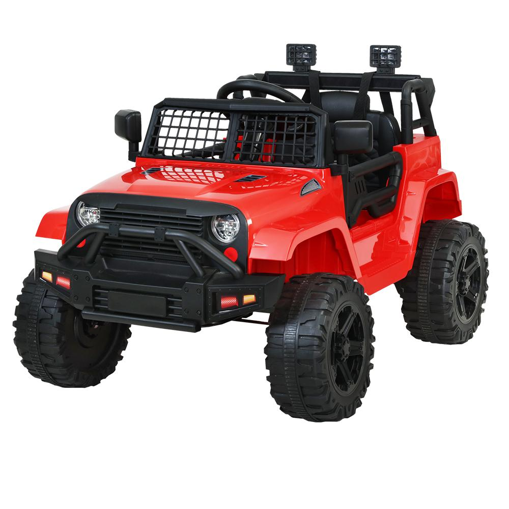Rigo Kids Ride On Car Electric 12V Car Toys Jeep Battery Remote Control Red - Kids Decor Factory
