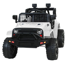 Rigo Kids Ride On Car Electric 12V Car Toys Jeep Battery Remote Control White - Kids Decor Factory