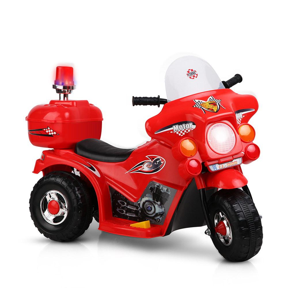Rigo Kids Ride On Motorbike Motorcycle Car Red - Kids Decor Factory