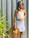 SKIRT BOHO GIRL MINI WHITE