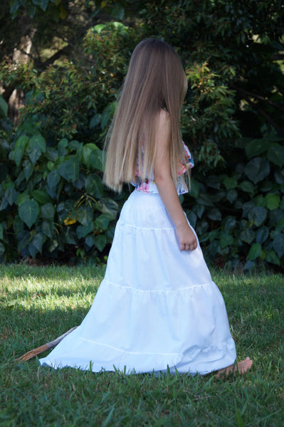 HIPPY GIRL SKIRT WHITE