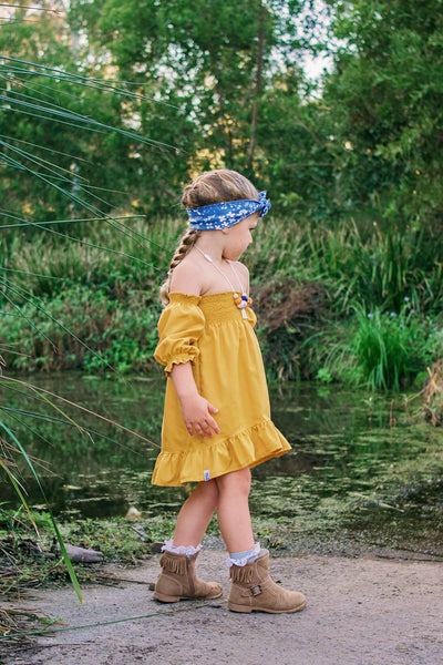 DRESS - SUNSHINE DRESS IN MUSTARD