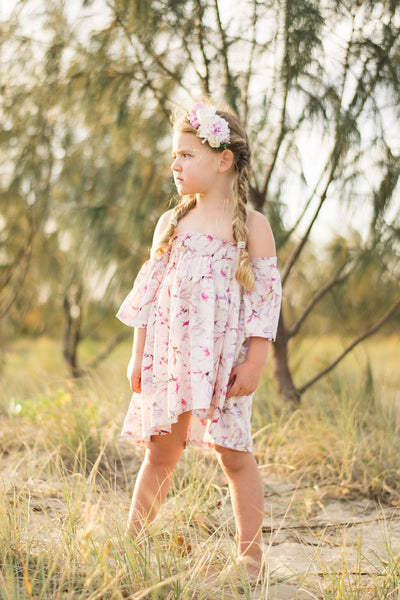 DRESS IN MAGNOLIA DREAM PRINT
