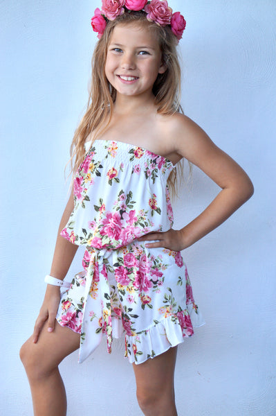 PLAYSUIT IN FLORAL DREAMING PRINT