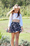 SKIRT GYPSY LOVE IN ENVIOUS NAVY