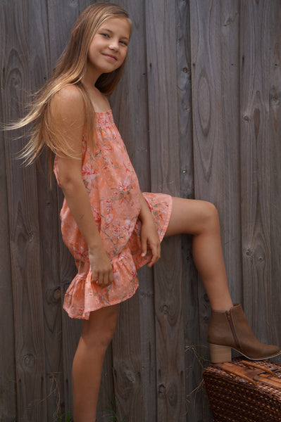 SALE - DRESS - PEACH PIE