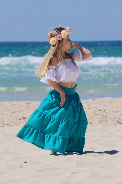 HIPPY SKIRT TEAL