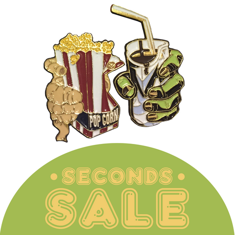 SECONDS SALE: Fade To Black Enamel Pin