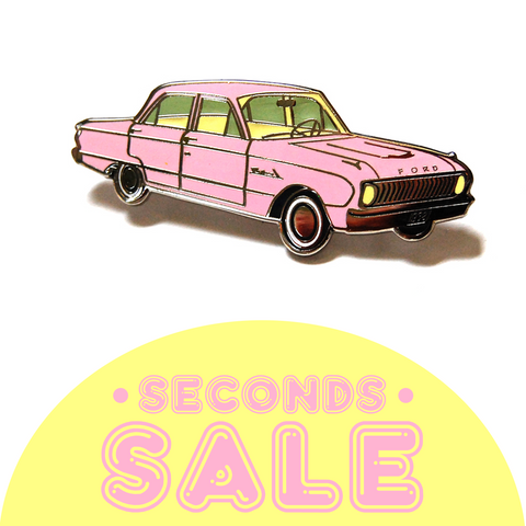 SECONDS SALE: Pink Falcon Hard Enamel Pin