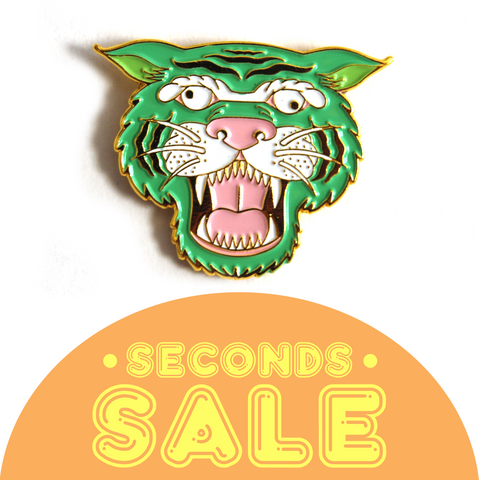 SECONDS SALE: Mint Tiger Enamel Pin