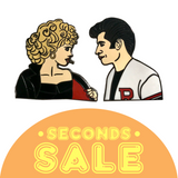 SECONDS SALE: Sandy & Danny Hard Enamel Pins