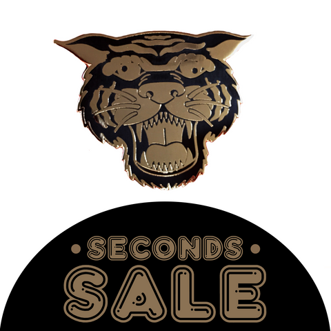 SECONDS SALE: Wacky Tiger Hard Enamel Pin