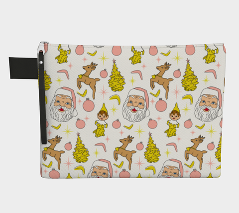 Kitschy White Christmas Clutch