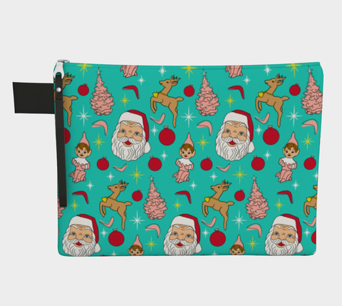 Kitschy Mint Christmas Clutch