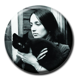 Joan Baez Holding a Cat 1.75