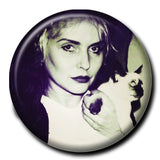 "Debbie Harry Holding a Cat 1.75"" Pinback Button"