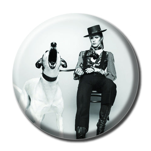 "David Bowie Holding a Dog 1.75"" Pinback Button"