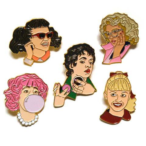 Pink Ladies Enamel Pin Set