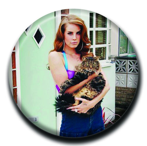 "Lana Del Rey Holding a Cat 1.75"" Pinback Button"