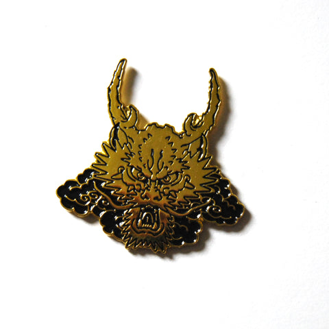 Gold Dragon Enamel Pin