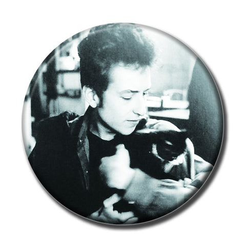 "Bob Dylan Holding a Cat 1.75"" Pinback Button"