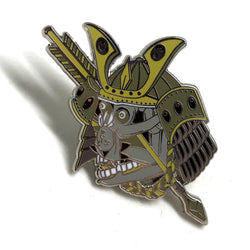 Yōkai Samurai Series Bent Back Girls Hard Enamel Pin Collaboration with Stef Bastiàn