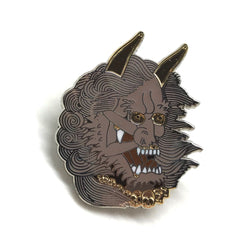 Yōkai Oni Series Bent Back Girls Hard Enamel Pin Collaboration with Stef Bastiàn