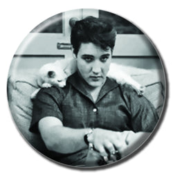 Elvis Holding a Cat 1.75