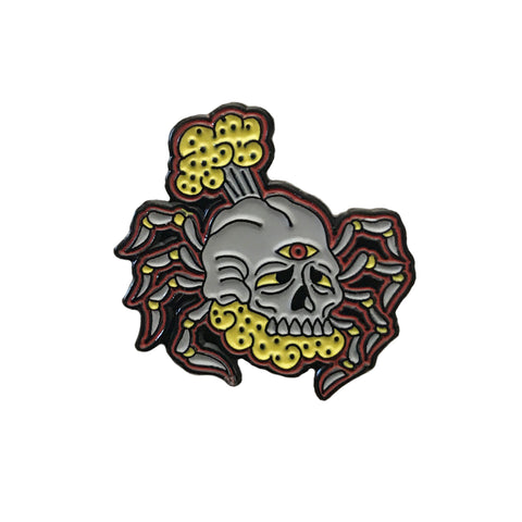 Farting Spider Enamel Pin